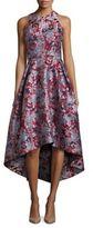 Monique Lhuillier Hi-Lo Floral Dress