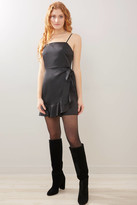 A Love Like You Black Shine Mini Dress Black M