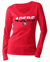 5th & Ocean Women's San Francisco 49ers Huddle LE Long Sleeve T-Shirt