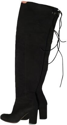 Paris Texas Black Suede Boots