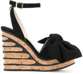 Paloma Barceló Iris bow wedge sandals