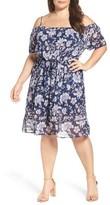 Lucky Brand Plus Size Women's Drawstring Waist Cold Shoulder Dress