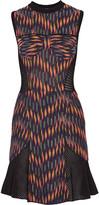 M Missoni Paneled jacquard-knit cotton-blend mini dress