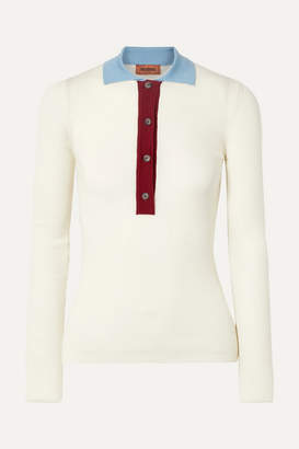 Missoni Ribbed Wool Polo Shirt - Ivory