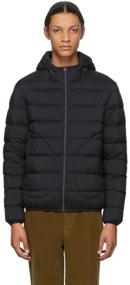 Herno Navy Down Hooded Bomber Jacket