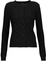 Raoul Cable knit wool and cashmere-blend cardigan