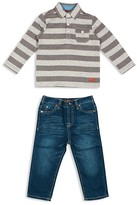 7 For All Mankind Infant Boys' Striped Polo Shirt & Straight Jeans Set - Sizes 12-24 Months