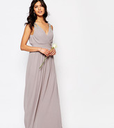 TFNC Wedding Wrap Embellished Maxi Dress
