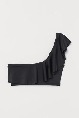 H&M One-shoulder Bikini Top - Black