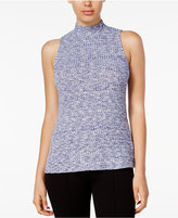 Kensie Sleeveless Mock-Turtleneck Top