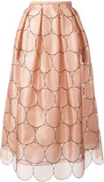 Rochas circles applique skirt