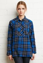 Forever 21 FOREVER 21+ Oversized Plaid Flannel Top