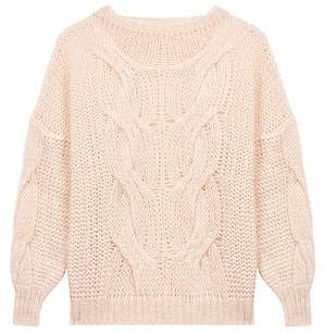 Maje Women's Morsade Oversized Cable-Knit Sweater