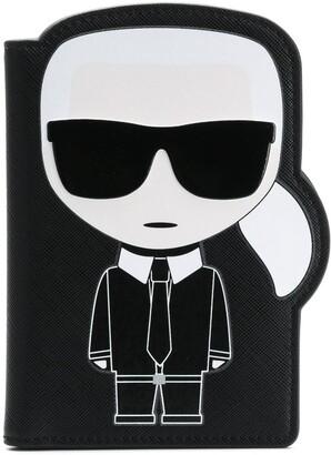 Karl Lagerfeld Paris K/Ikonik passport holder
