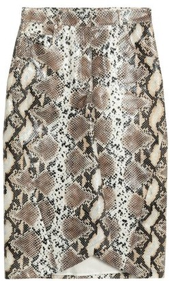 pushBUTTON 3/4 length skirt
