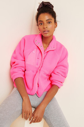 Free People Movement Hit The Slopes Fleece Jacket By Movement in Pink Size XS