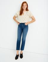Madewell Petite Cali Demi-Boot Jeans in Preston Wash: Raw-Hem Edition