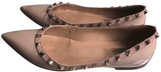 Valentino Rockstud Pink Patent leather Flats