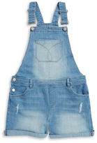 Calvin Klein Girls 7-16 Girls Distressed Overalls