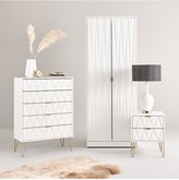 Swift Versailles Ready Assembled 4 Piece Package - 2 Door Wardrobe, 5 Drawer Chest and 2 Bedside Chests