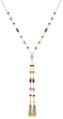 """Style&Co. Style & Co Bead & Chain Tassel Lariat Necklace, 28"""" + 3"""" extender"""