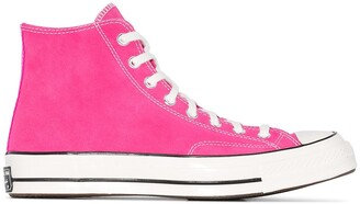 Converse Pink Chuck 70 suede high top sneakers