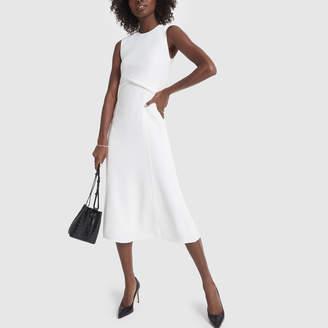 Victoria Beckham Sleeveless Drape Flare Midi Dress
