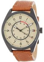 Tommy Hilfiger Men's Dylan Causal Leather Strap Watch, 44mm
