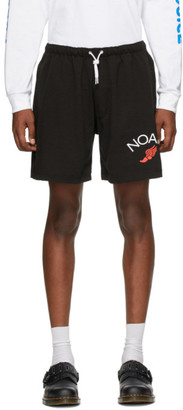 Noah NYC Black Jersey Shorts