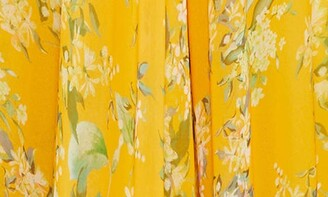 Mac Duggal Floral Chiffon Cutout Ballgown