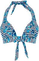 Oasis Stripe Butterfly Halter Bikini