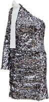 MSGM One Shoulder Sequin Dress