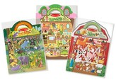 Melissa & Doug Puffy Sticker Activity Books Set - Farm, Safari, and Chipmunk