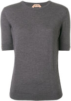 No.21 embellished half sleeve sweater - women - Virgin Wool - 40