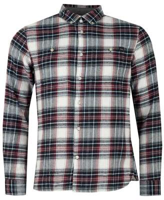 Edwin Triple 10 Checked Shirt Colour: OXBLOOD, Size: SMALL