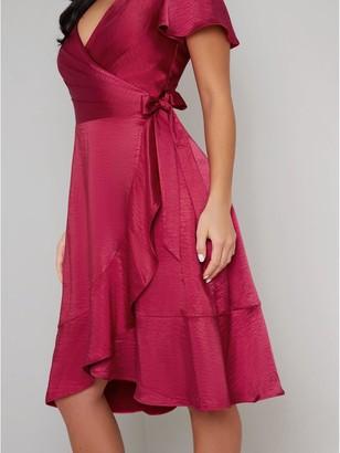 Chi Chi London Chrysta Dress - Red
