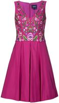 Marchesa floral embroidered dress - women - Polyester - 0