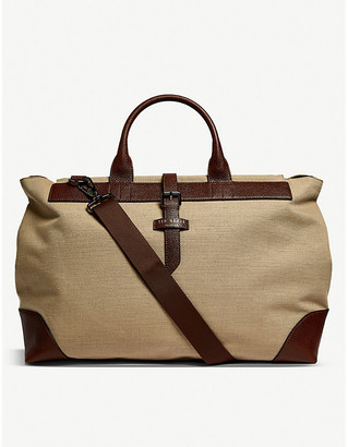 Ted Baker Giante recycled polyester canvas holdall