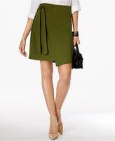 ECI Faux-Wrap Skirt