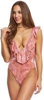 Blue Life Swimwear Flamingo Tie Dye Flutter One Piece Swimsuit 8154223