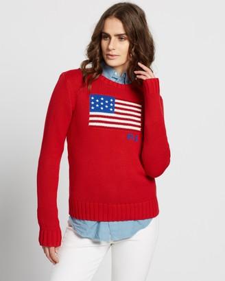 Polo Ralph Lauren Flag Crew LS Sweater
