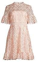 Shoshanna Women's Sora Lace Eyelet A-Line Dress