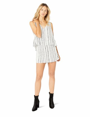 Cupcakes And Cashmere Women's Joann Dotted Stripe V-Neck Romper