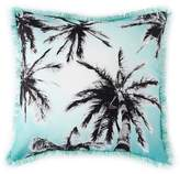 Shiraleah Biscayne Palm Tree Pillow - Turquoise