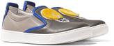 Fendi Blue Slip-On Lightbulb Shoes