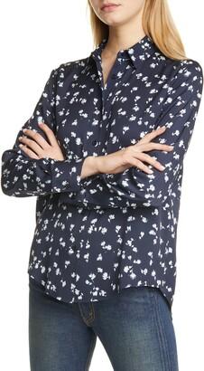 Nordstrom Signature Floral Stretch Silk Button-Up Shirt