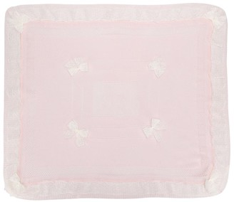Aletta Lace Trim Bow Detail Blanket