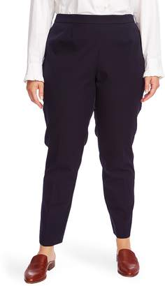 Court & Rowe Flat Front Stretch Cotton Blend Twill Trousers