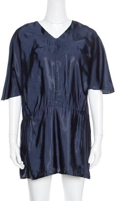 Marni Navy Blue V-Neck Dolman Sleeve Mini Dress M