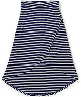 I.N. Girl Big Girls 7-16 Rib Knit Striped High-Low Skirt